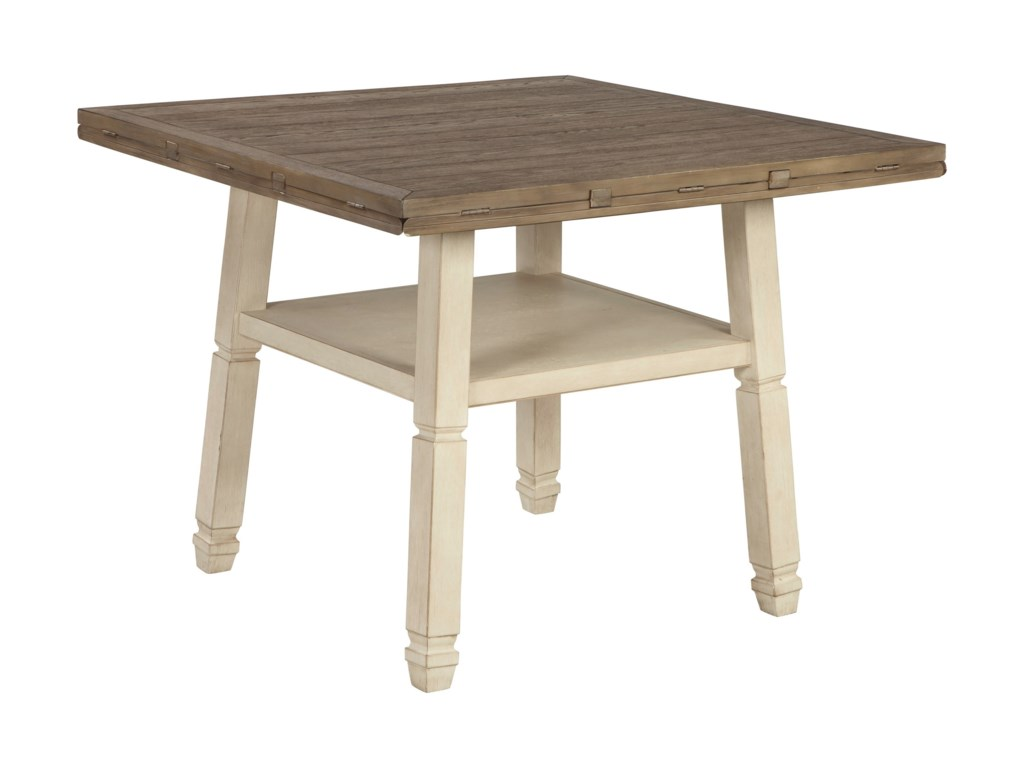 Signature Design by Ashley BolanburgRound Drop Leaf Counter Table