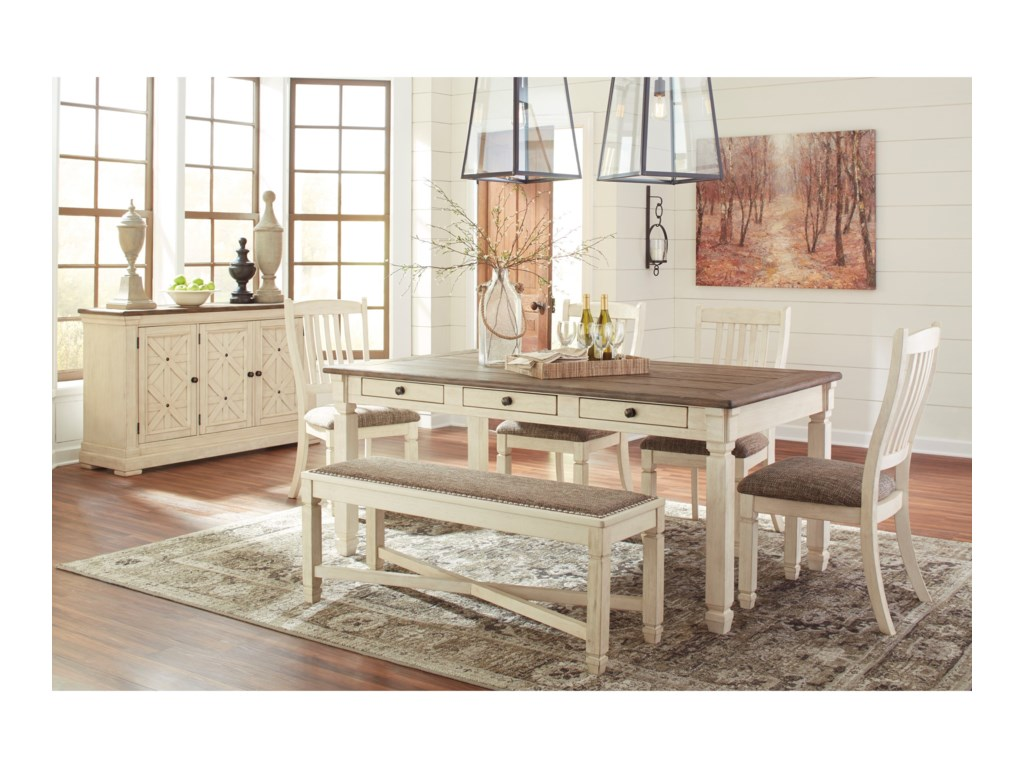 Ashley (Signature Design) BolanburgTable and Chair Set with Bench