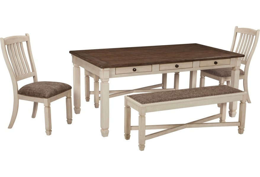 Bolanburg Table and Chair Set with Bench