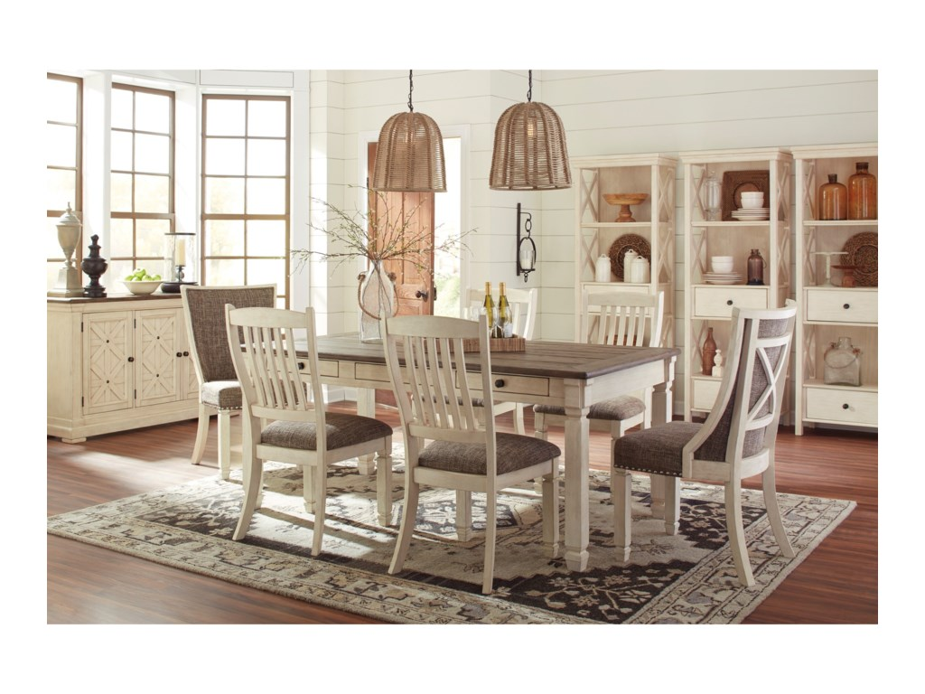 Ashley (Signature Design) Bolanburg7-Piece Table and Chair Set