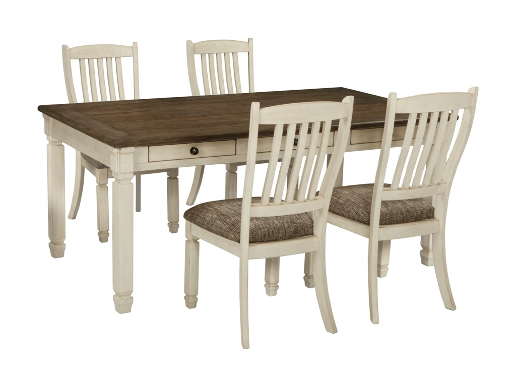 Signature Design by Ashley Bolanburg5 Piece Table and Chair Set