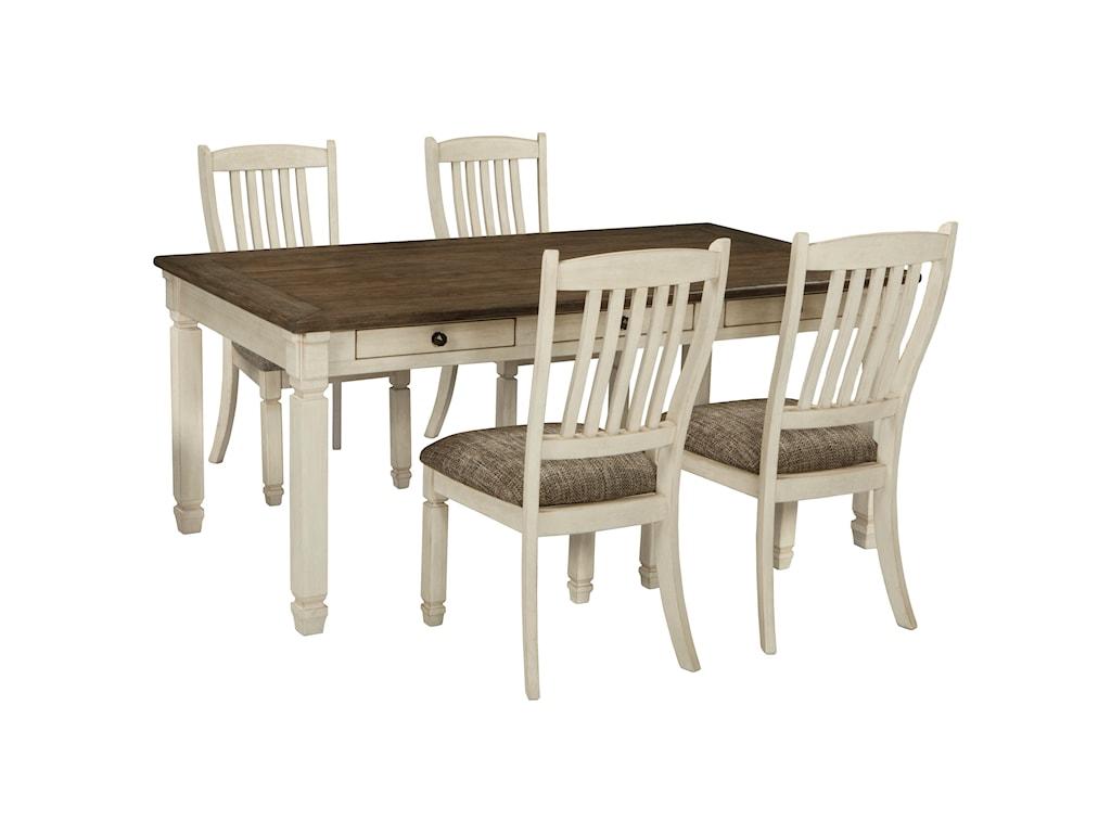 Ashley (Signature Design) Bolanburg5 Piece Table and Chair Set