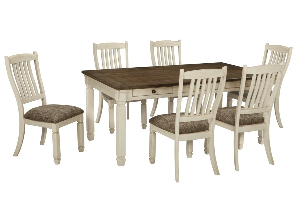 Signature Design by Ashley Bolanburg7 Piece Table and Chair Set