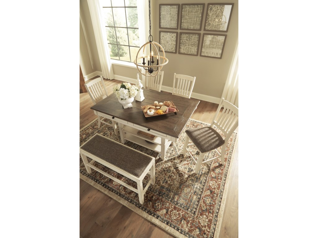 Signature Design by Ashley Bolanburg6-Piece Counter Table Set with Bench