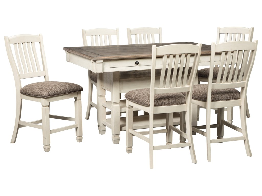 Signature Design by Ashley Bolanburg7-Piece Counter Table and Stool Set