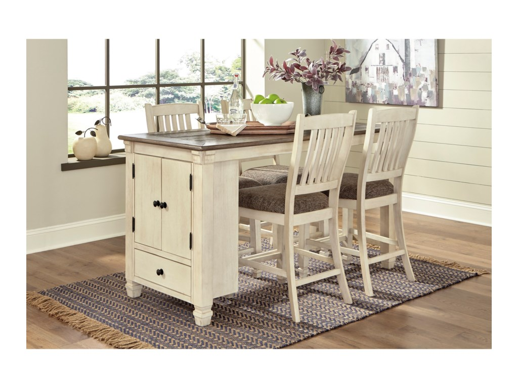 Signature Design by Ashley Bolanburg5-Piece Rect. Dining Room Counter Table Set