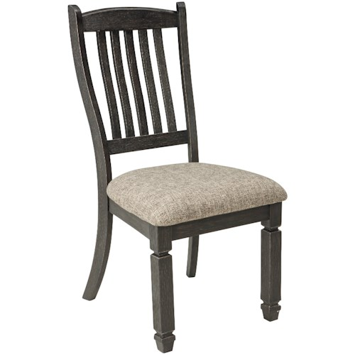Signature Design by Ashley Tyler Creek Relaxed Vintage Upholstered Side Chair with Slat Back