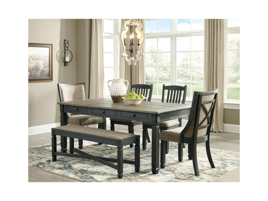 Ashley (Signature Design) Tyler Creek6 Piece Table and Chair Set