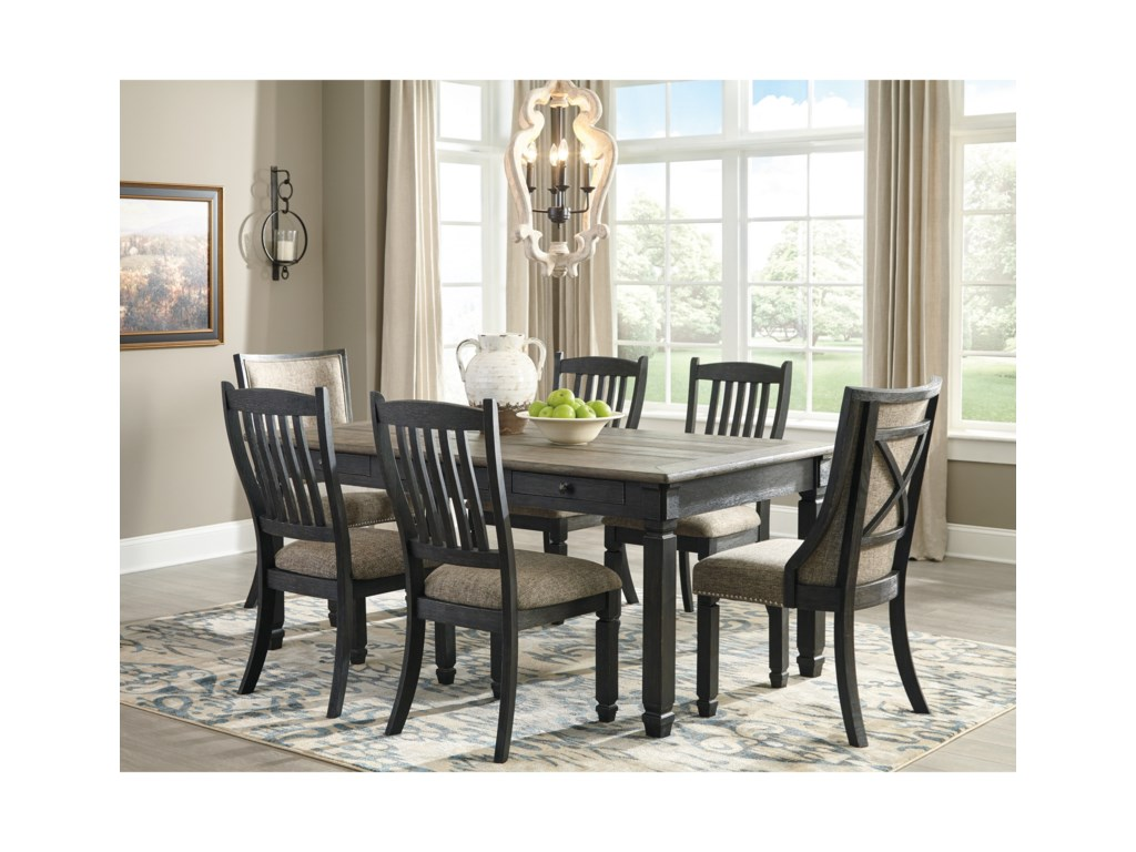 Signature Design by Ashley Tory7-Piece Table and Chair Set