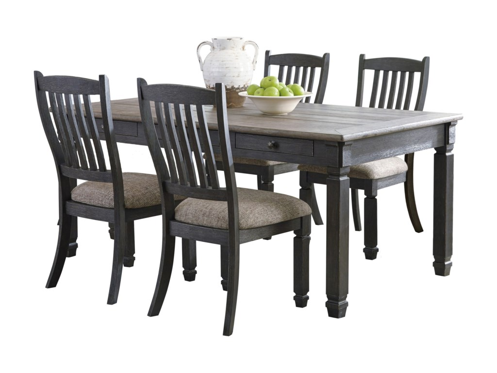 Ashley (Signature Design) Tyler Creek5 Piece Table and Chair Set