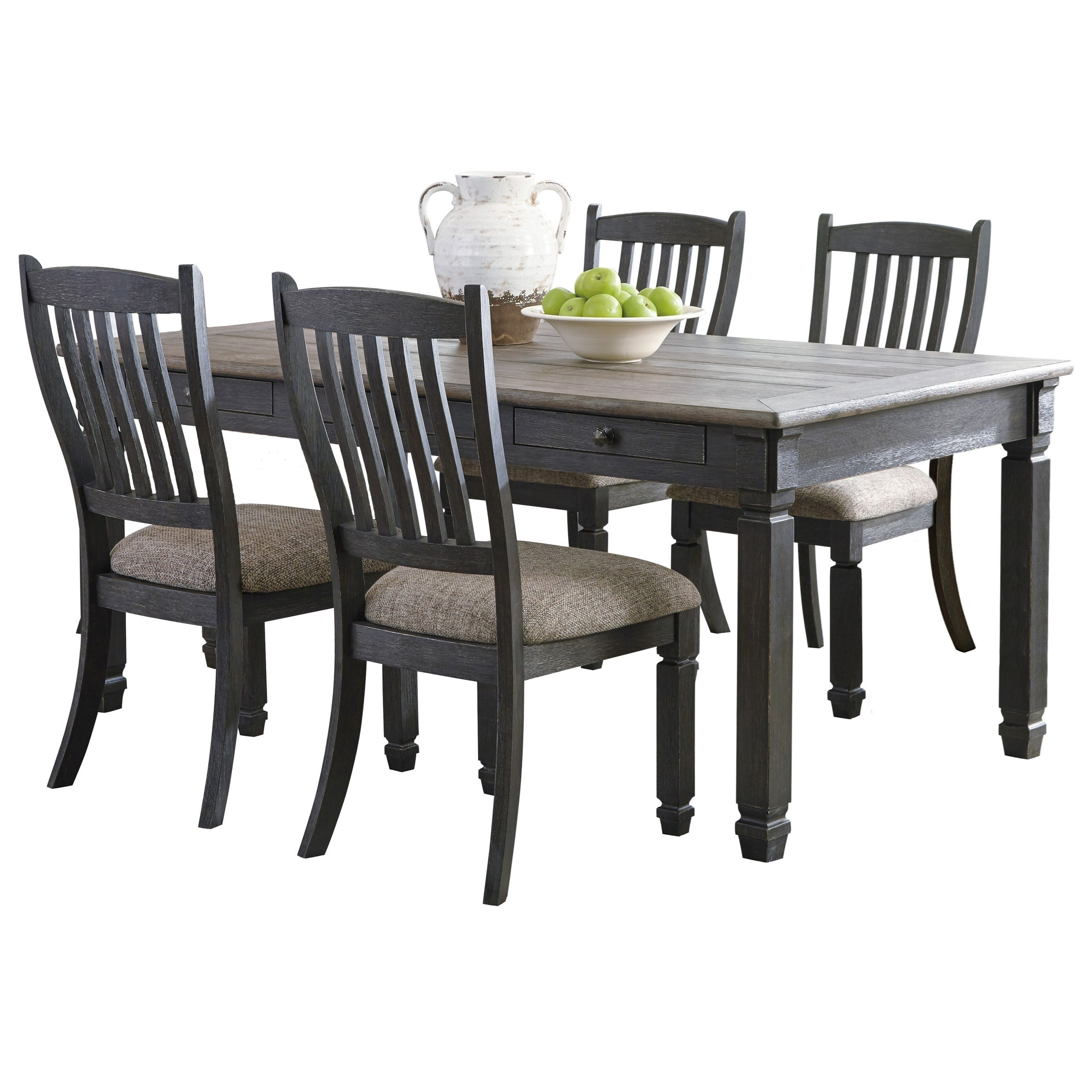 Delicieux Signature Design By Ashley Tyler Creek5 Piece Table And Chair Set ...