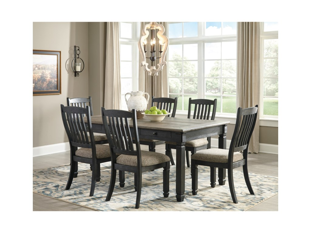 Ashley (Signature Design) Tyler Creek7 Piece Table and Chair Set