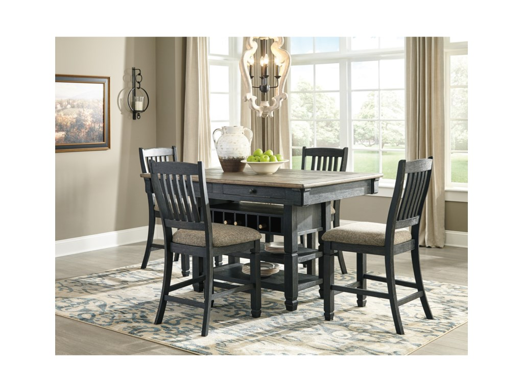 Signature Design by Ashley Tory5-Piece Counter Table and Stool Set