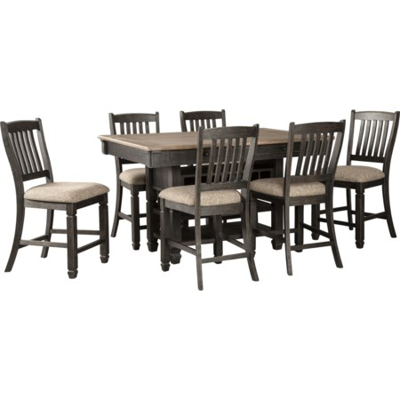 7-Piece Counter Table and Stool Set