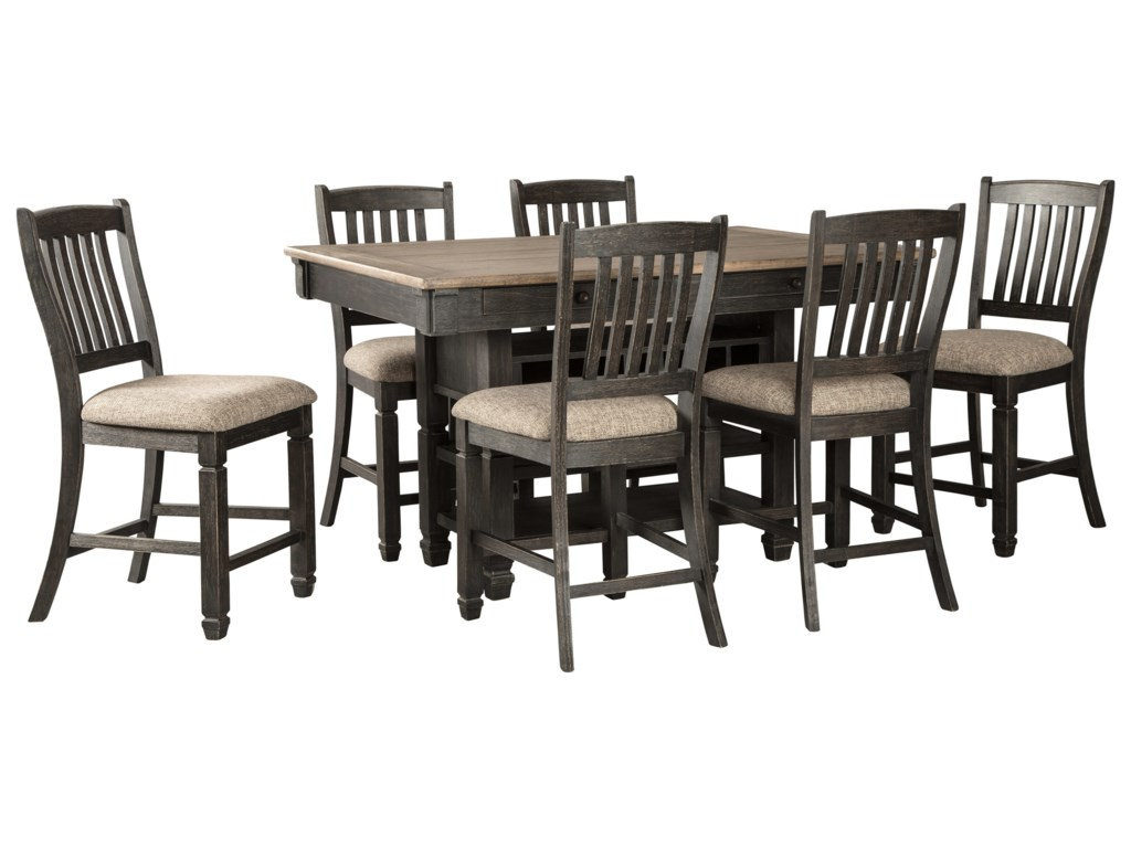 Signature Design by Ashley Tyler Creek7-Piece Counter Table and Stool Set