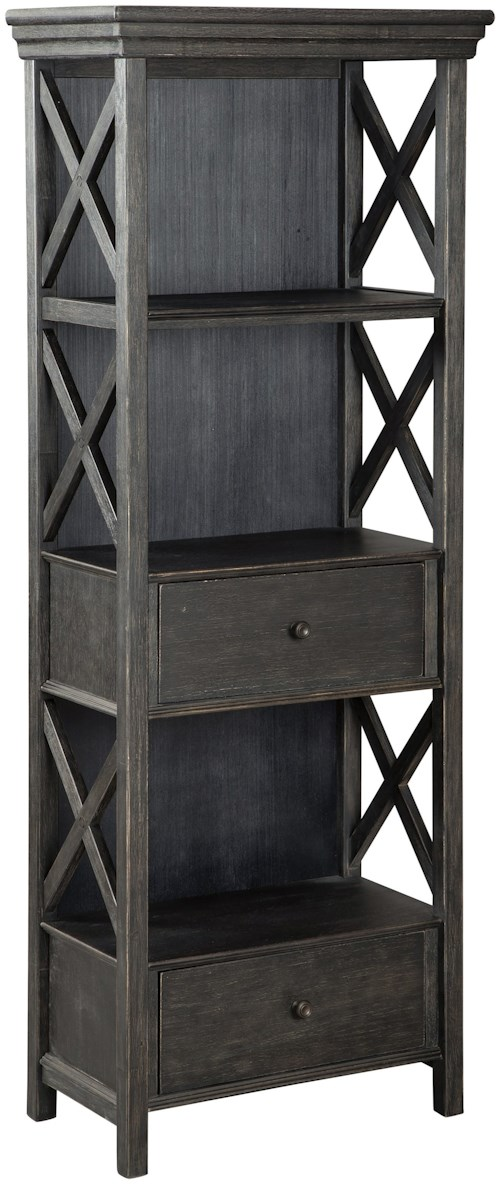 Signature Design by Ashley Tyler Creek Relaxed Vintage Display Cabinet with Drawers