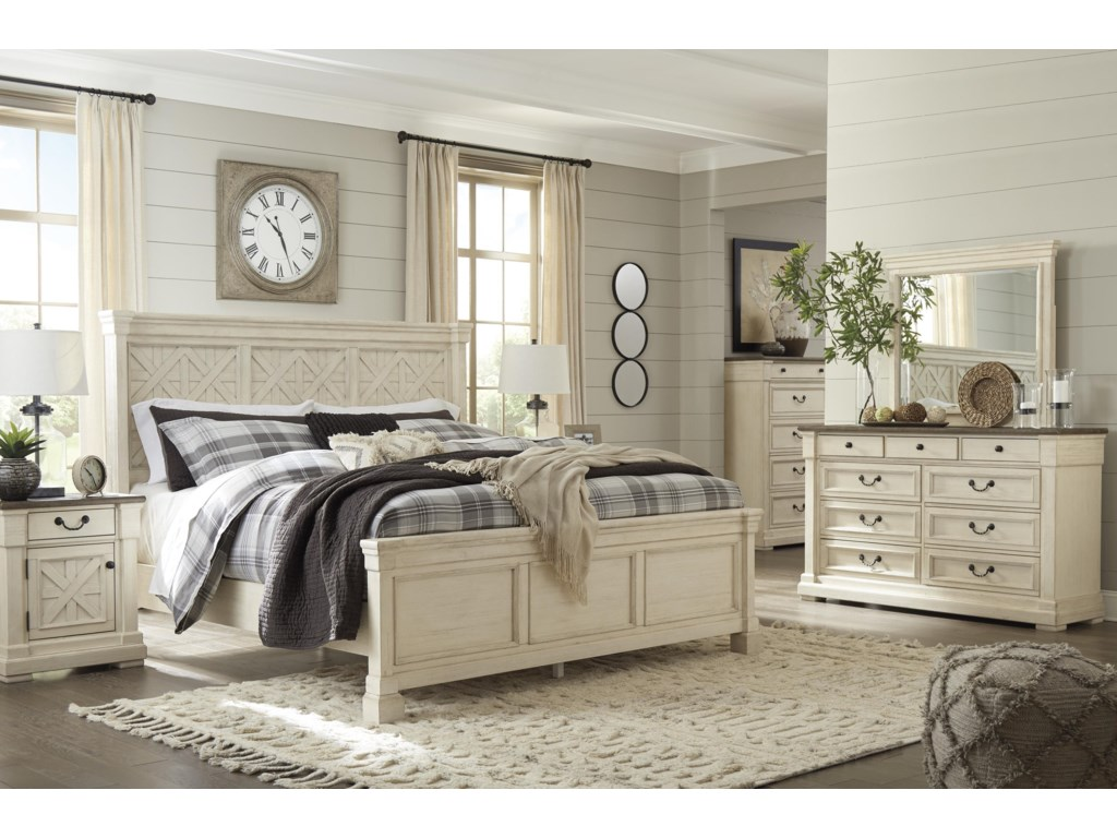 Signature Design by Ashley BolanburgKing Panel Bed Package