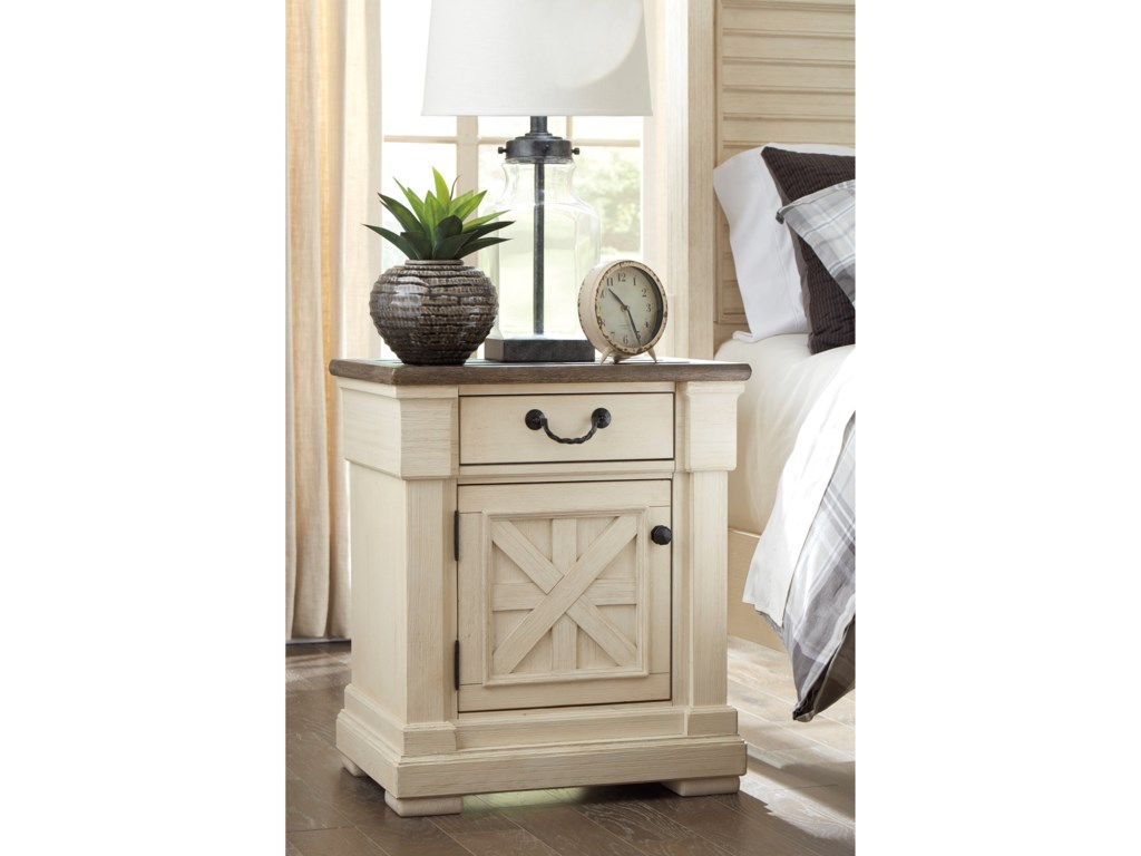 Signature Design by Ashley Bolanburg1-Drawer Nightstand