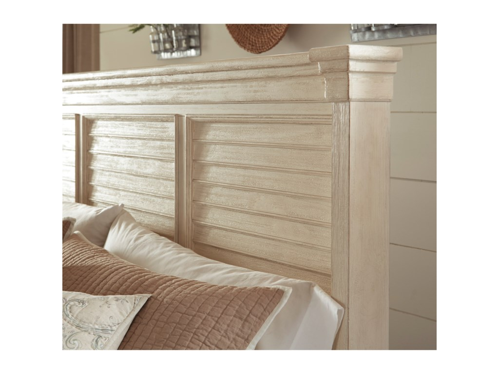 Signature Design by Ashley BolanburgQueen Louvered Headboard Panel Bed