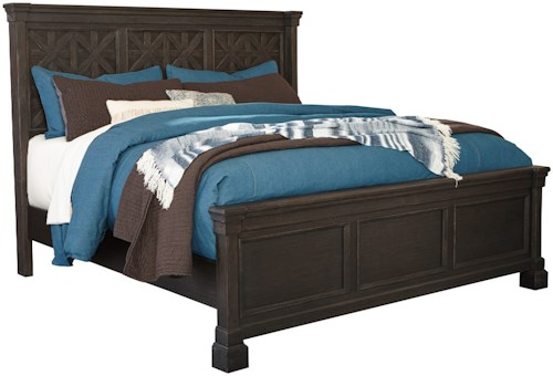 Signature Design by Ashley Tyler Creek King Panel Bed with Lattice Panels