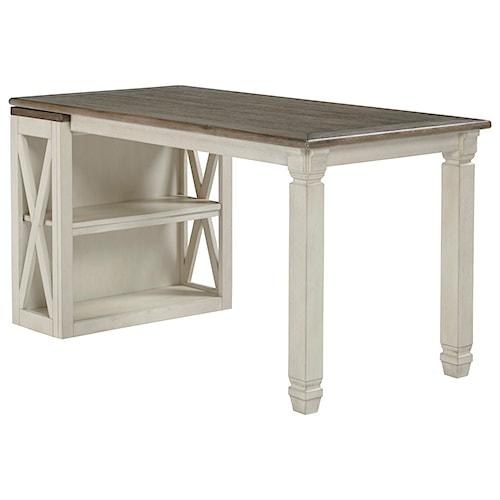 Signature Design by Ashley Bolanburg Return Desk with Small Bookcase