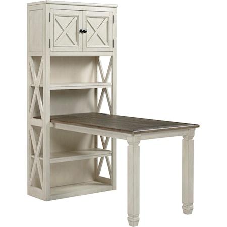 Return Desk with Bookcase
