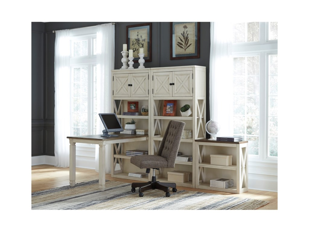 Ashley (Signature Design) BolanburgReturn Desk with Three Bookcases