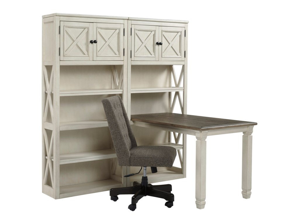 Signature Design by Ashley BolanburgReturn Desk with Two Bookcases