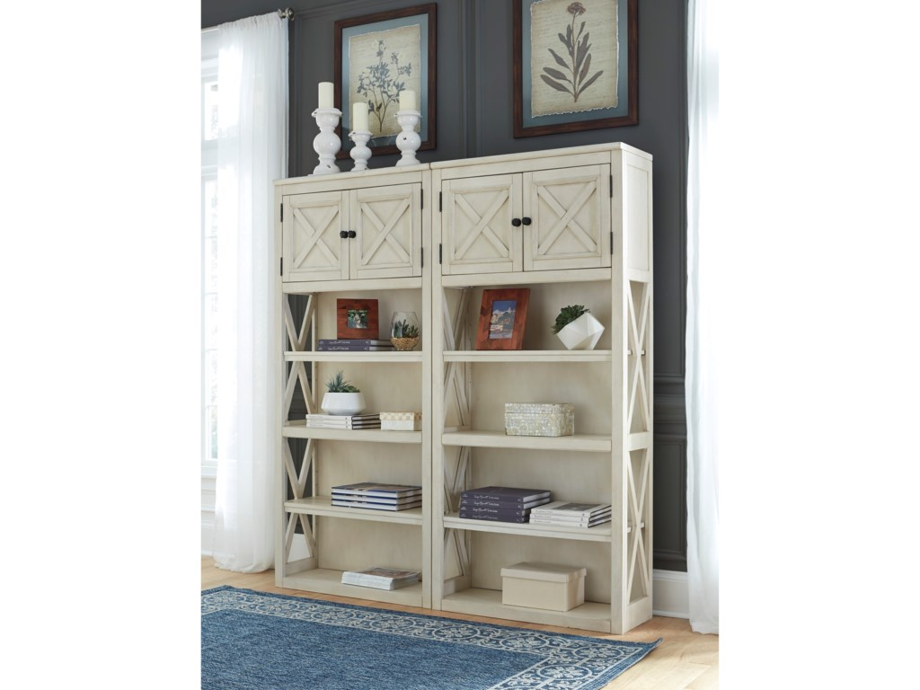 Signature Design by Ashley Bolanburg2 Large Bookcases