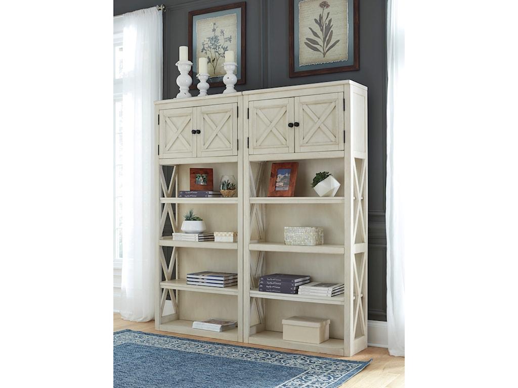 Signature Design by Ashley Bolanburg2 Large Bookcases
