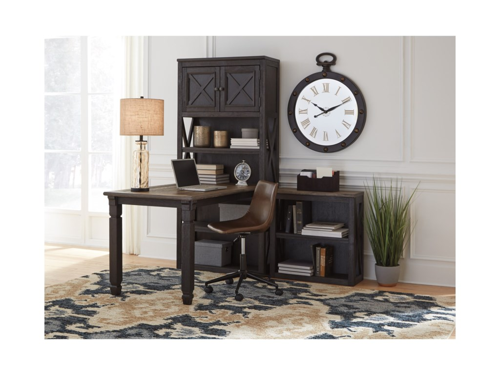 Signature Design by Ashley Tyler CreekReturn Desk with 2 Bookcases