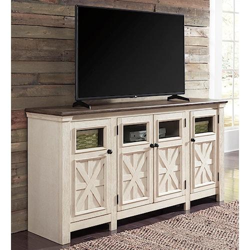 Signature Design by Ashley Bolanburg Two-Tone Finish Extra Large TV Stand