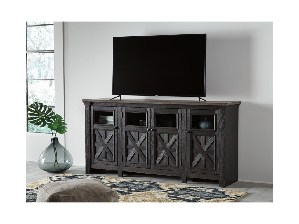 Signature Design by Ashley Nolan - Antique BlackExtra Large TV Stand