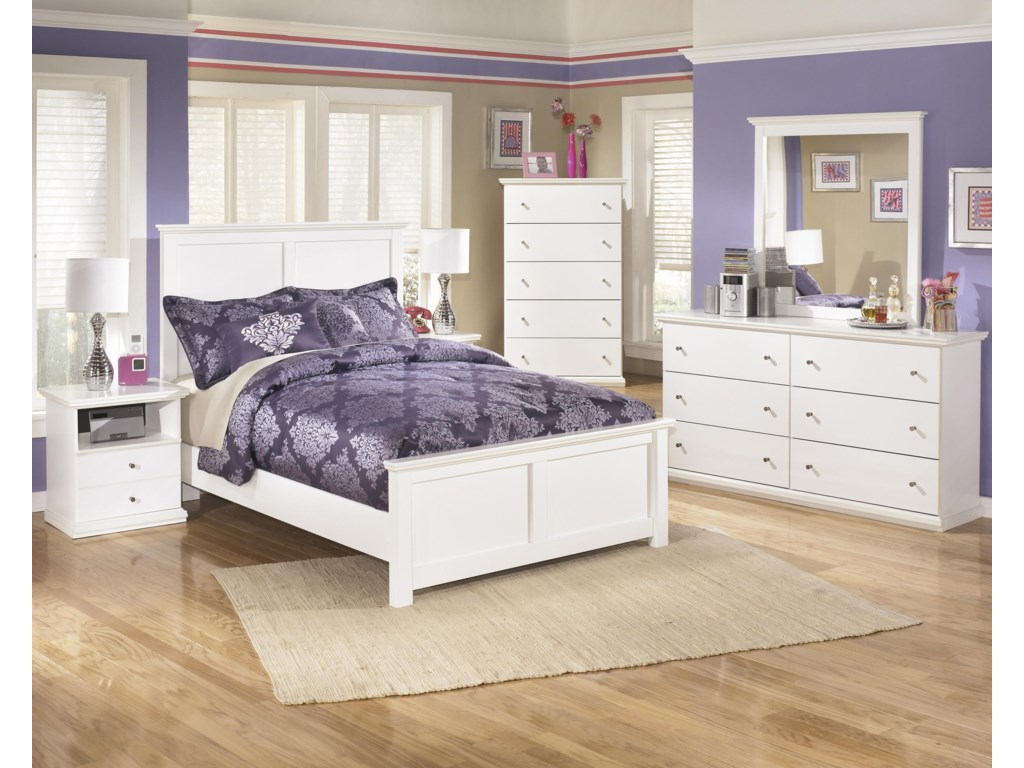 Signature Design by Ashley Bostwick ShoalsQueen Panel Bed, 2 Nightstands, Chest, Dress