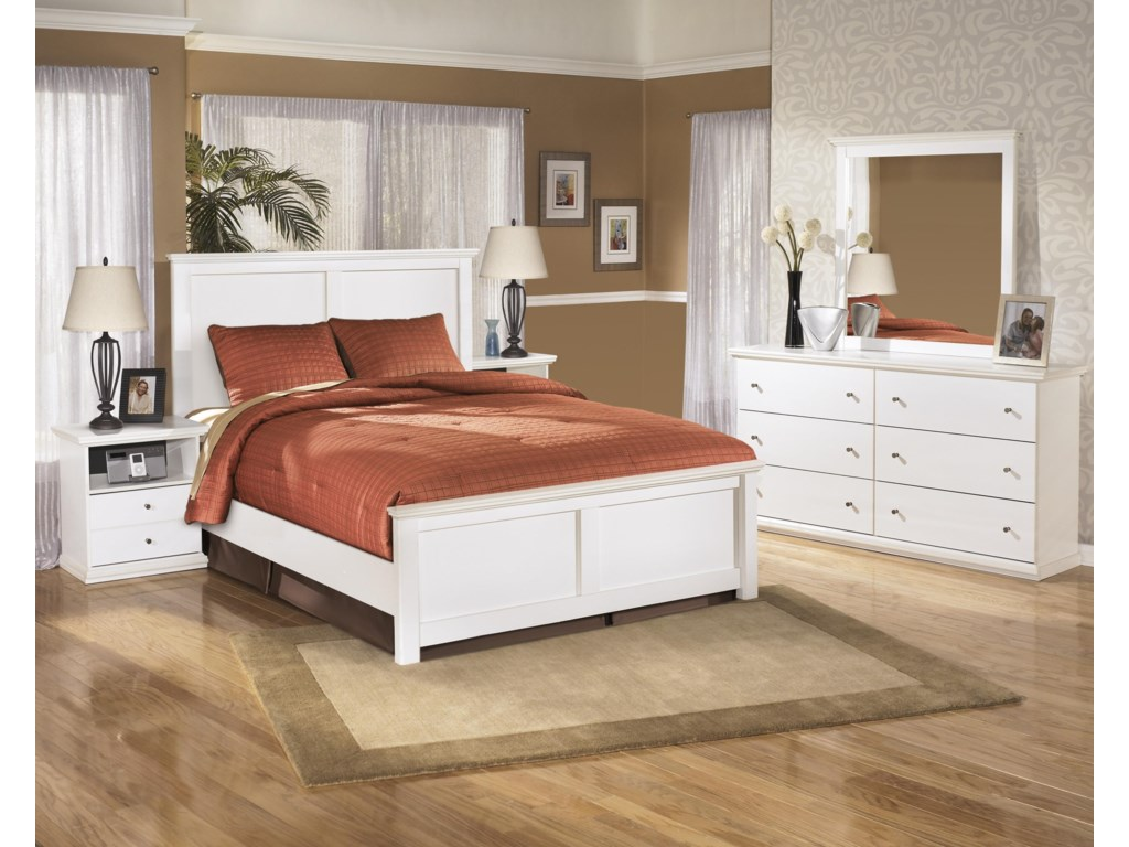 Signature Design by Ashley Bostwick ShoalsFull Panel Headboard, Dresser, Mirror and Ni