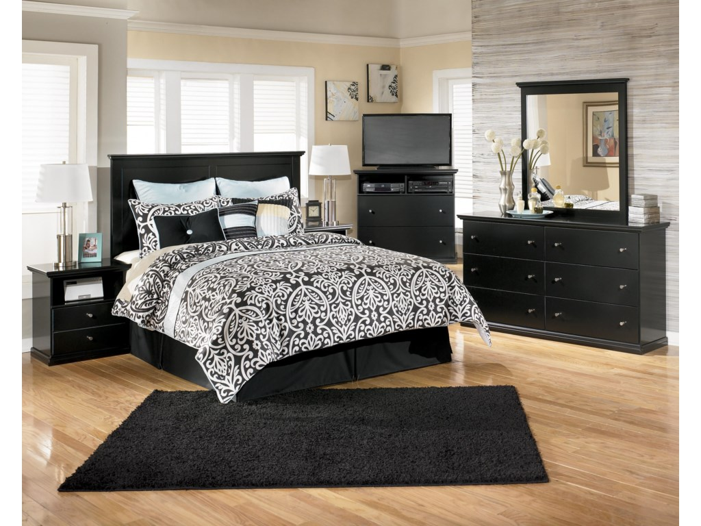 Shown with Nightstand, Panel Headboard, Media Chest, & Mirror