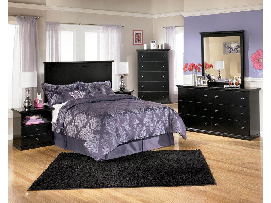 Shown with Nightstand, Panel Headboard, Chest, & Mirror