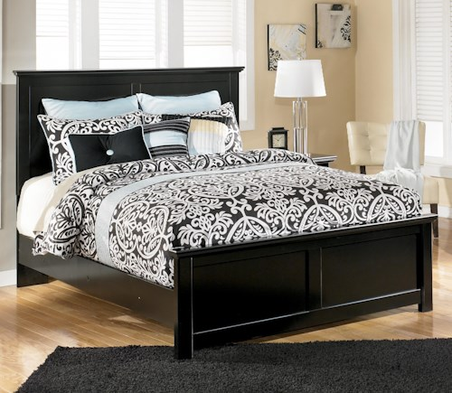Signature Design by Ashley Maribel Queen Panel Bed with Simple Moulding