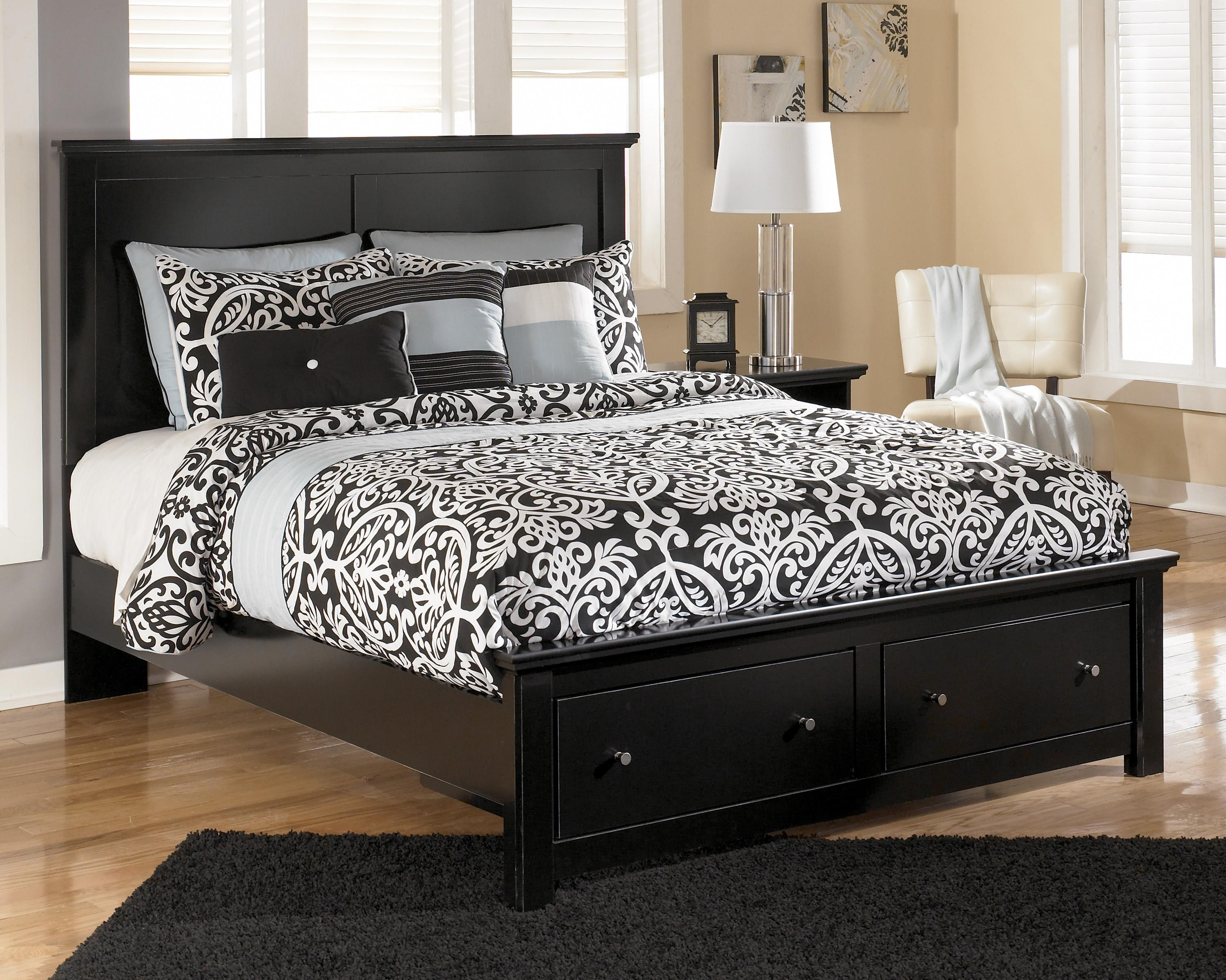Signature Design By Ashley Maribel Queen Storage Bed With 2 Footboard  Drawers