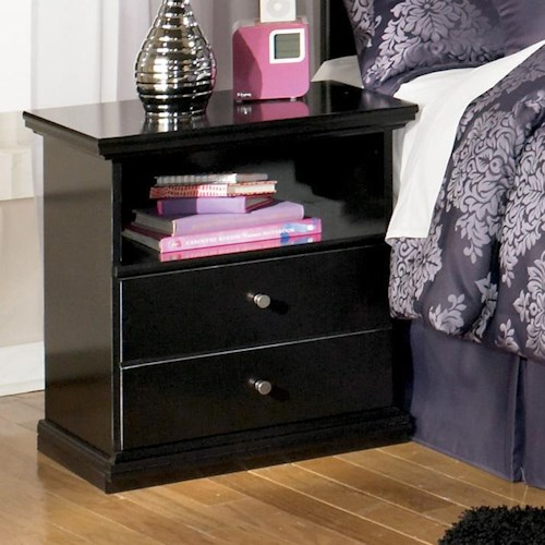 Signature Design by Ashley Maribel Casual One Drawer Nightstand with Shelf