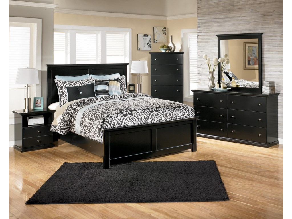 Shown with Panel Bed, Chest, Dresser & Mirror