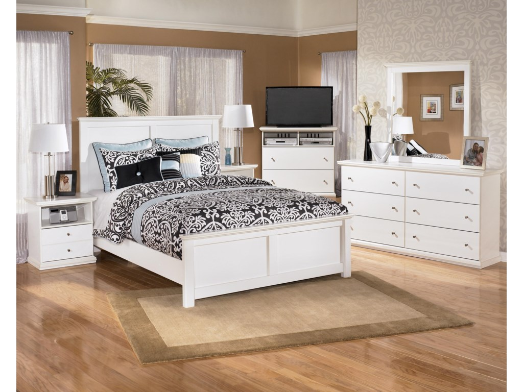 Shown with Nightstand, Panel Bed, Media Chest, & Mirror