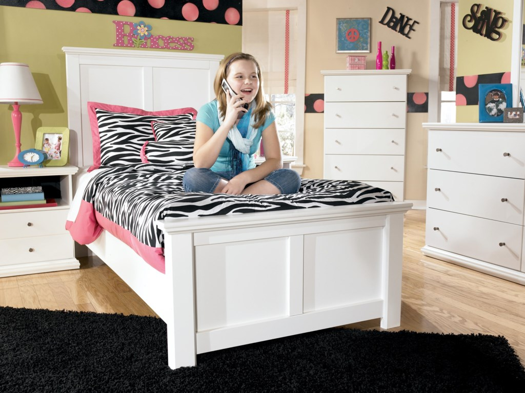 Signature Design by Ashley Bostwick ShoalsTwin Panel Bed