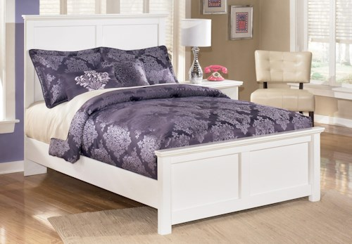 Signature Design by Ashley Bostwick Shoals Queen Panel Bed with Simple Moulding