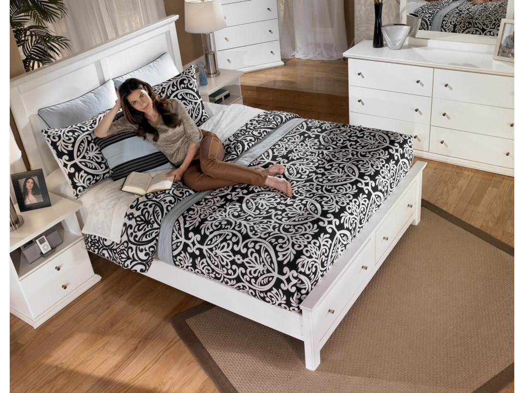 Signature Design by Ashley Bostwick ShoalsQueen Storage Bed