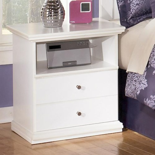 Signature Design by Ashley Bostwick Shoals Casual One Drawer Nightstand with Shelf