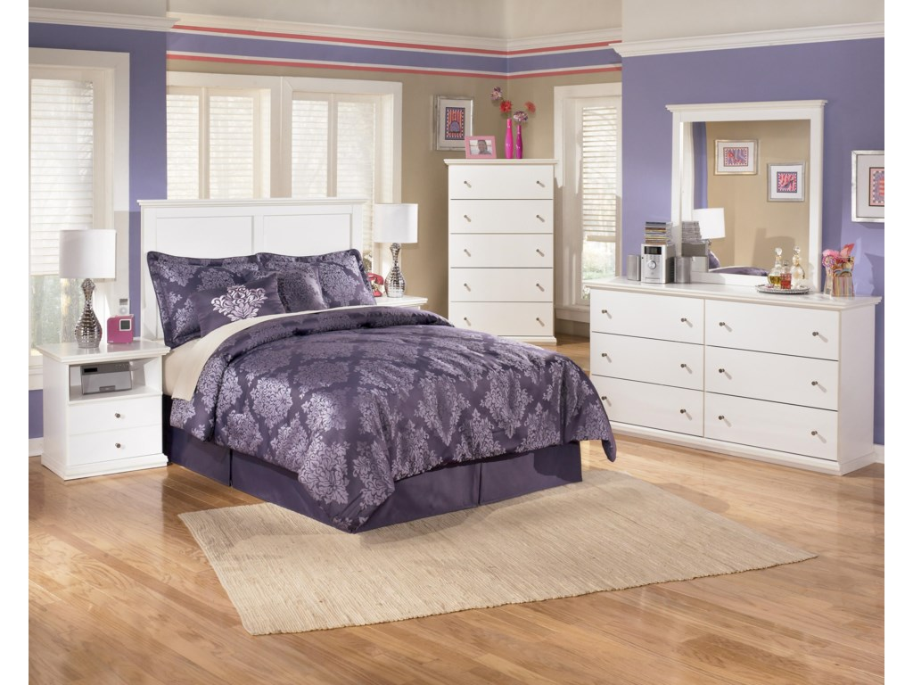 Shown with Panel Headboard, Chest, Dresser & Mirror