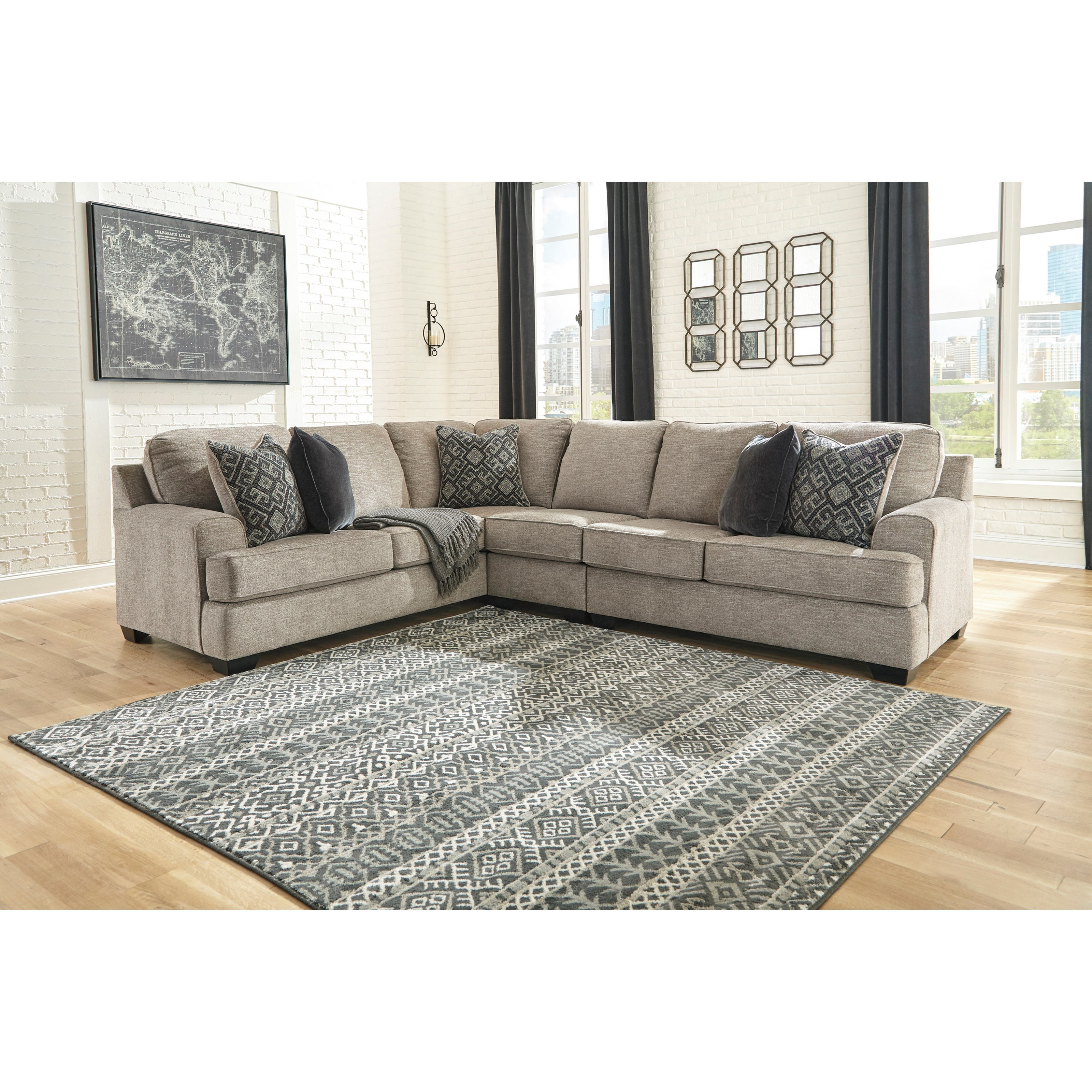 3-Piece Sectional with Track Arms