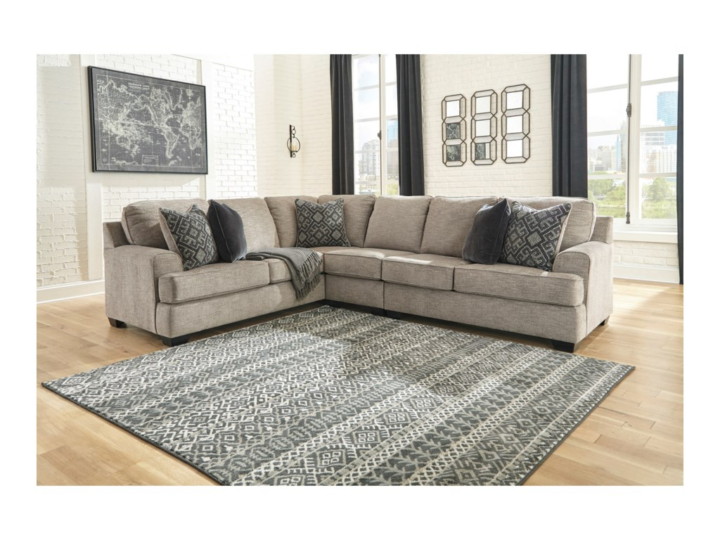 Bovarian 3-Piece Sectional with Track Arms by Signature Design by Ashley at  Wayside Furniture