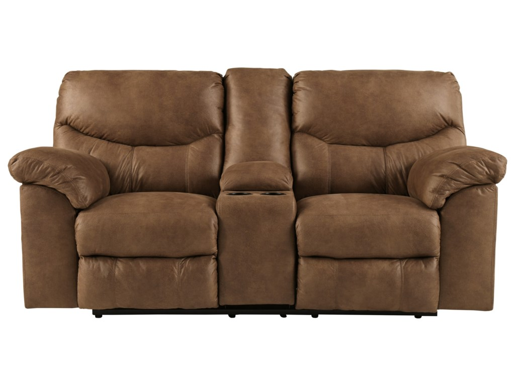 Ashley (Signature Design) BoxbergDouble Reclining Loveseat with Console